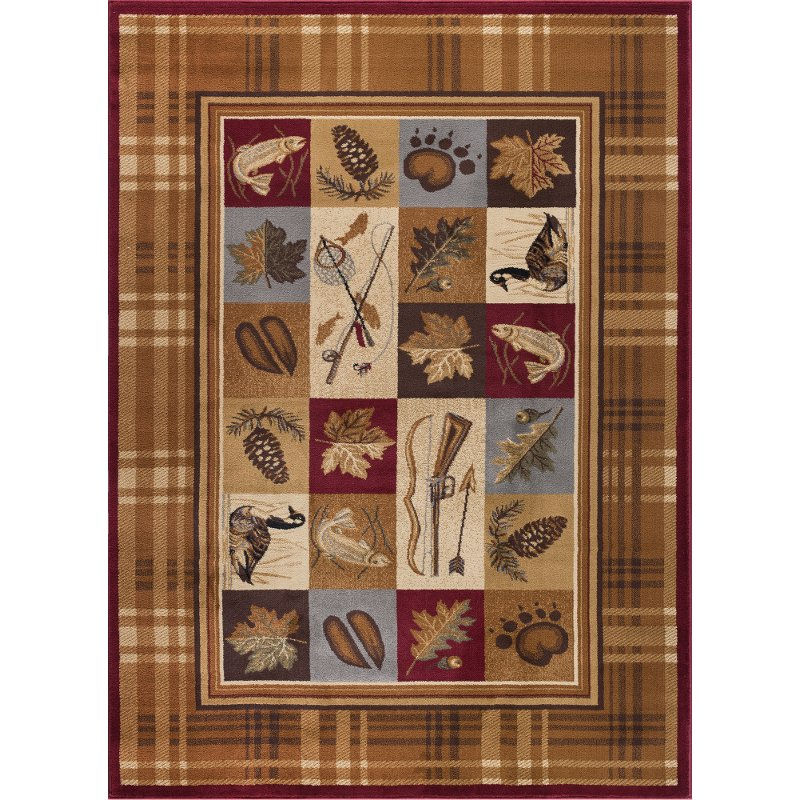 8 X 10 Large Tan Brown And Blue Area Rug Nature Rc Willey Furniture