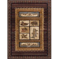 NTR6538 5x8 5 x 7 Medium Tan, Brown, and Blue Area Rug - Nature