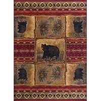 NTR65708x11 8 x 10 Large Brown, Red, and Green Area Rug - Nature