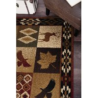 8 X 10 Large Red Brown And Tan Area Rug Nature Rc Willey