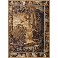NTR6680 5x8 5 x 7 Medium Brown & Beige Area Rug - Nature