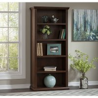 Cherry 5-Shelf Bookcase - Yorktown