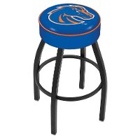 L8B125BoiseS Black 25 Inch Cushion Counter Stool - Boise State