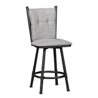 Black & Gray 26 Inch Counter Height Stool - Arthur