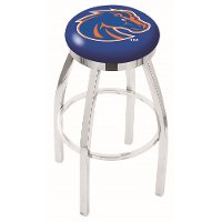 L8C2C25BoiseS Boise State Chrome 25 Inch Counter Stool