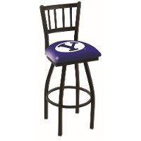 25 Inch Slat Back Swivel Counter Height Stool - BYU