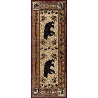 NTR6550 3x8 Brown 7 Foot Runner Rug - Nature