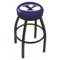 Black 25 Inch Swivel Counter Height Stool - BYU