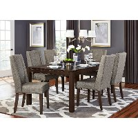 Brown and Gray Modern 5 Piece Dining Set - Kavanaugh Collection