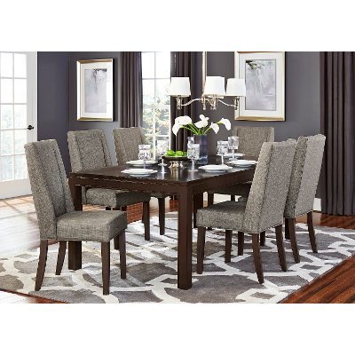 Brown and Gray Modern 5Piece Dining Set Kavanaugh Collection