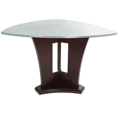 Counter Height Dining Table - Soho Espresso and Glass Modern
