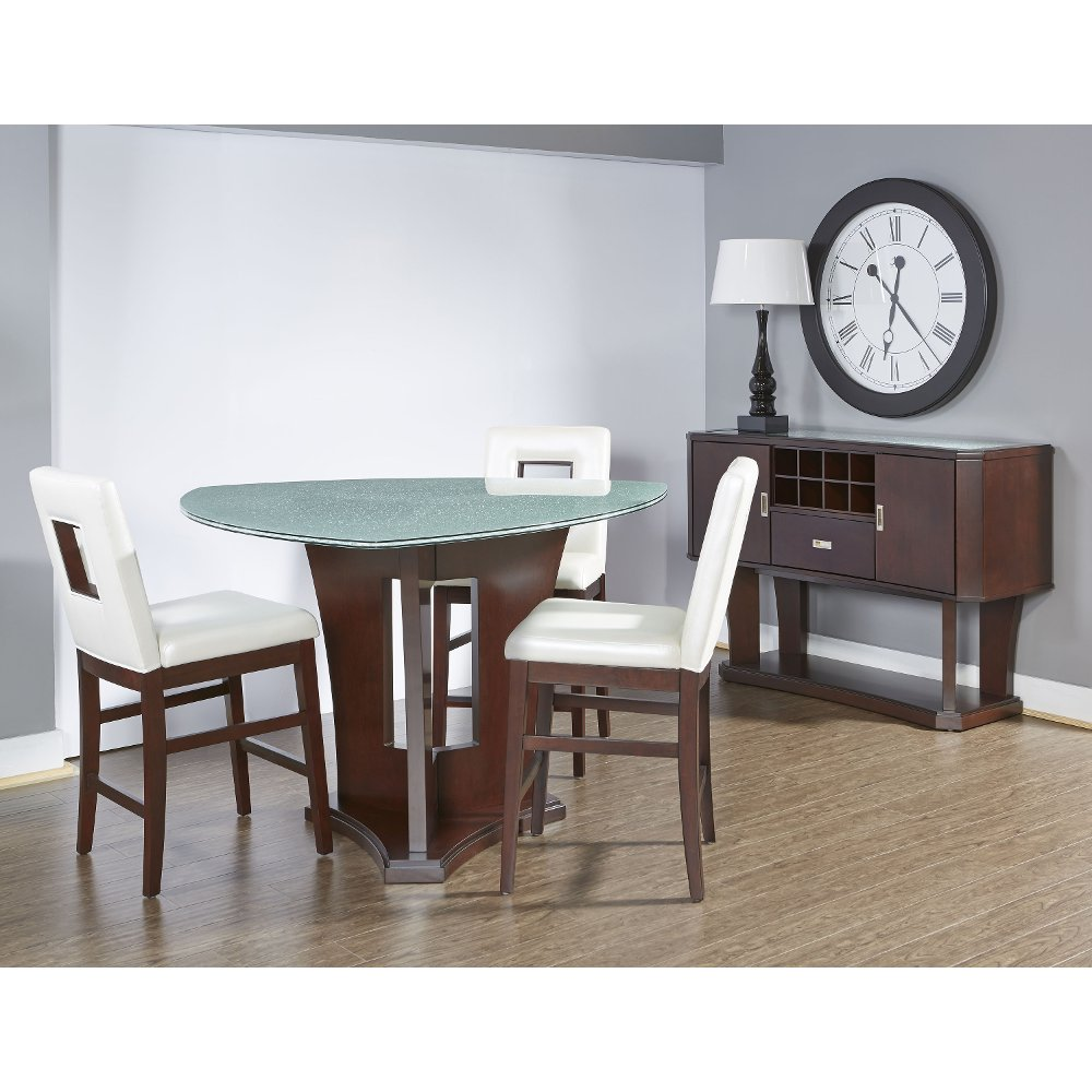 4 Piece Dining Set   Soho Espresso Counter Height | RC Willey Furniture  Store
