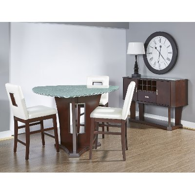 Lovely 4 Piece Dining Set   Soho Espresso Counter Height