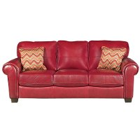 Airwaves Red Leather Modern Sofa Rc Willey Furniture Store