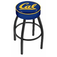L8B125Cal-Un Black 25 Inch Cushion Counter Stool - Cal U