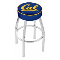 L8C125Cal-Un Chrome 25 Inch Cushion Counter Stool - Cal U