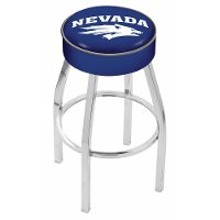 L8C125NevaUn Chrome 25 Inch Cushion Counter Stool - UNR