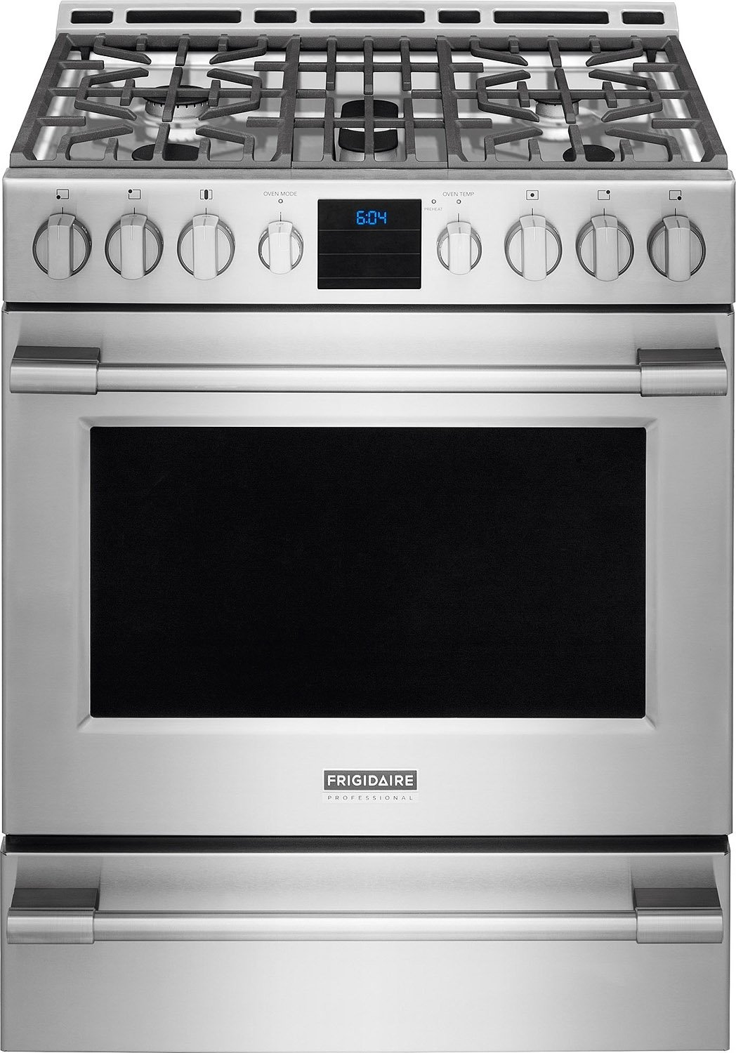 FPGH3077RF Frigidaire Professional Series 30 Inch Stainless Steel 5.1 Cu.  Ft. Gas Range