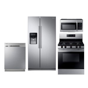 ... KIT Samsung 4 Piece Stainless Steel Kitchen Appliance Package ... Nice Look