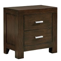 Couture Chocolate Brown Nightstand