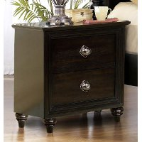 Tessy Dark Oak 2-Drawer Nightstand