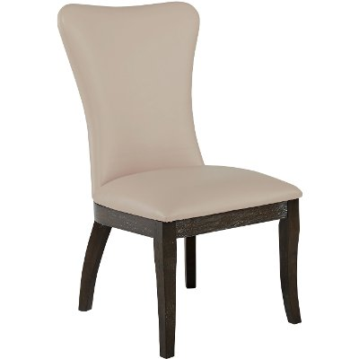 Ivory White Upholstered Dining Chair - Tessy