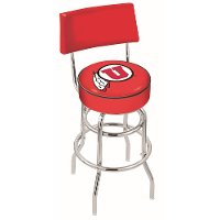 L7C425UtahUn 25 Inch Back Rest Counter Stool - U of U