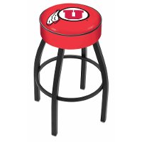 L8B125UtahUn Black 25 Inch Cushion Counter Stool - U of U