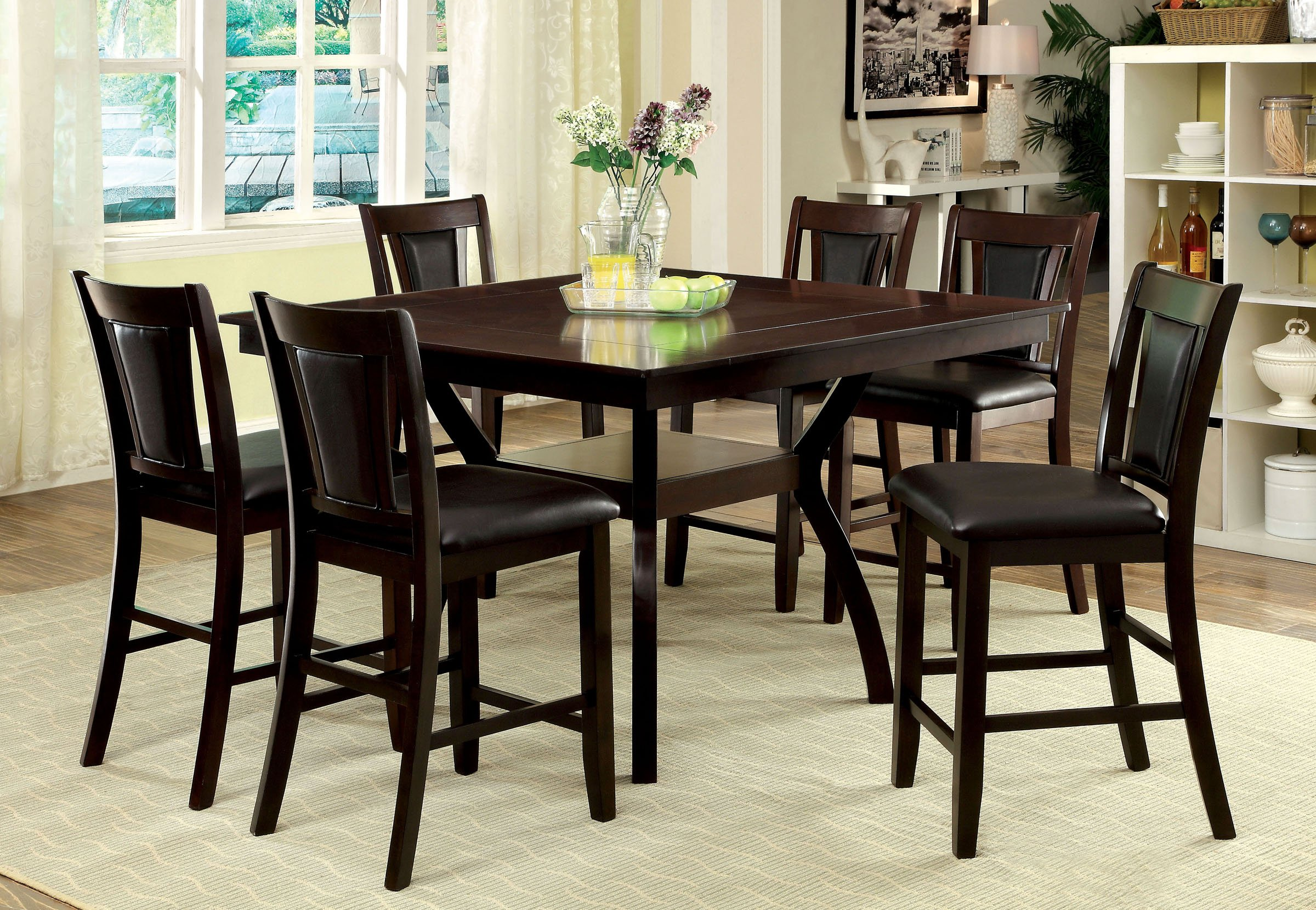 Dark Cherry 5 Piece Counter Height Dining Set Brent RC  : Counter Height Dining Table Urban Brent Dark Cherry rcwilley image1 from www.rcwilley.com size 1800 x 1292 jpeg 99kB