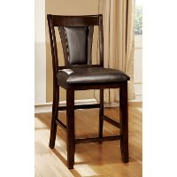 Brent Dark Cherry Traditional Counter Height Stool