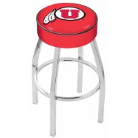 L8C125UtahUn Chrome 25 Inch Cushion Counter Stool - U of U