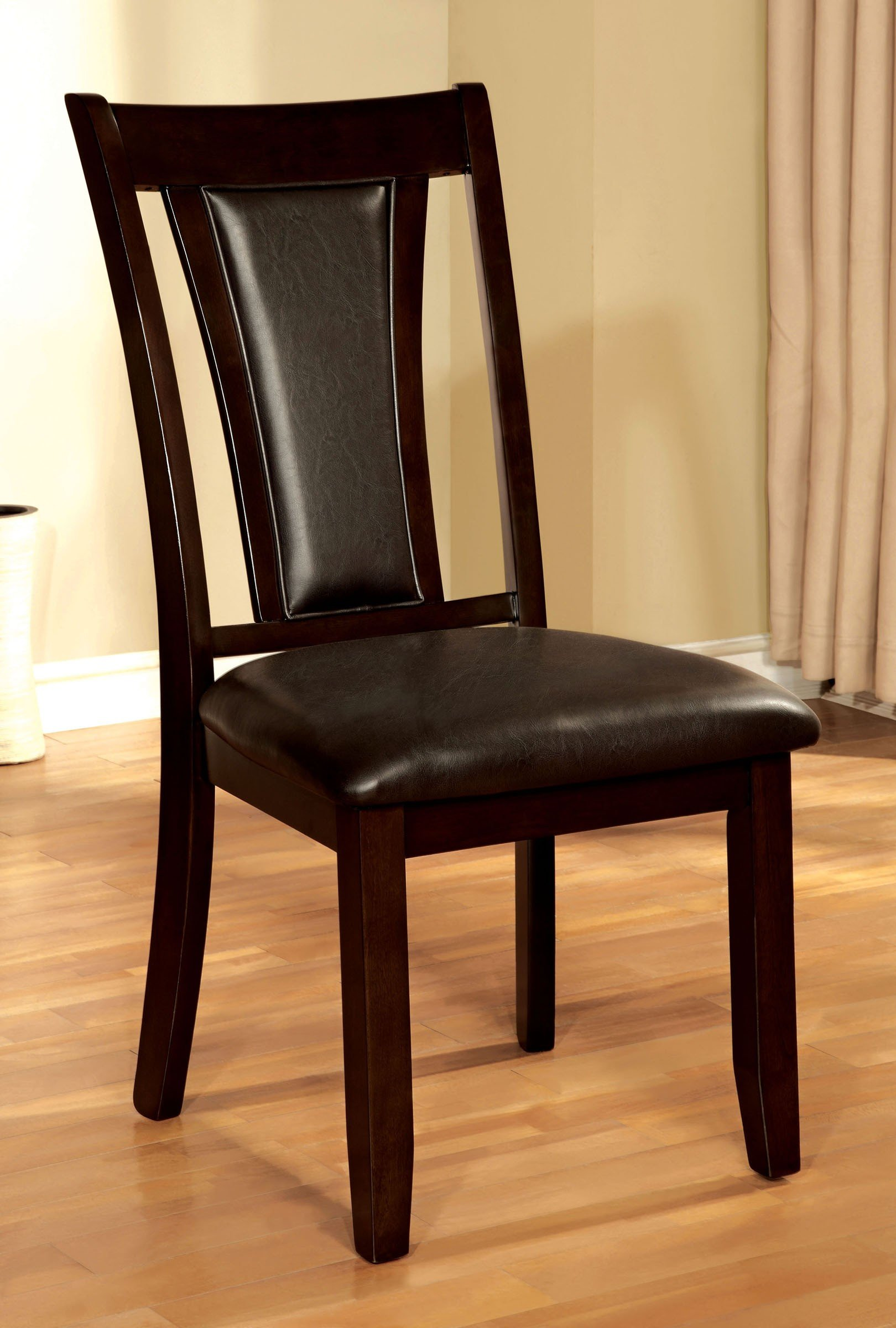 Dark cherry 5 piece dining set brent collection rc for Cherry dining room chairs