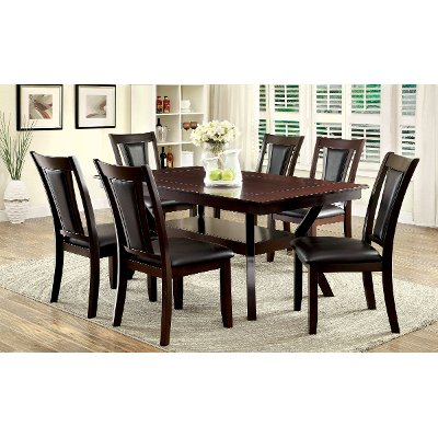 ... Dark Cherry 5 Piece Dining Set   Brent Collection