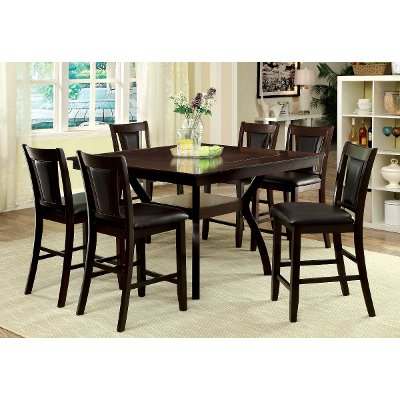 dark cherry 5piece counter height dining set brent