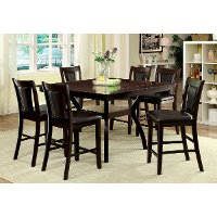 Dark Cherry 5 Piece Counter Height Dining Set - Brent