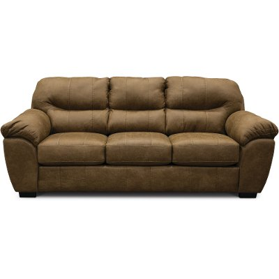 Casual Contemporary Silt Brown Sofa - Grant