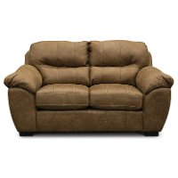 Casual Contemporary Silt Brown Loveseat - Grant