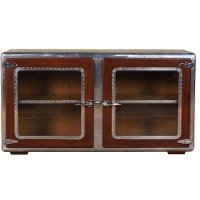 Dark Cherry and Light Cherry Console/Sofa Back Cabinet - Ferault