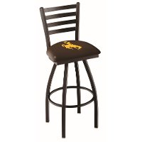 L01425Wymng University of Wyoming 25 Inch Ladder Counter Stool