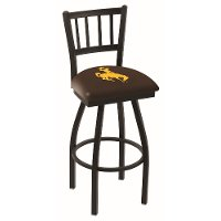 L01825Wymng University of Wyoming 25 Inch Jailhouse Counter Stool