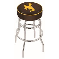 L7C125Wymng 25 Inch Double Ring Counter Stool - University of Wyoming