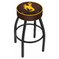 L8B125Wymng Black 25 Inch Cushion Counter Stool - University of Wyoming