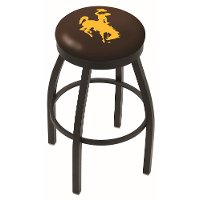 L8B2B25Wymng Black 25 Inch Counter Stool - University of Wyoming