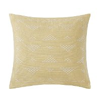 Cario Embroidered Square Throw Pillow