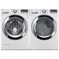 KIT LG Front Load Washer and Ultra-Large Capacity Dryer Set - White Electric