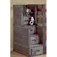 Fort Driftwood Rustic Stairway Chest