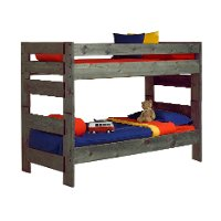 Rustic Driftwood Gray Twin-over-Twin Bunk Bed - Fort