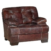 Contemporary Walnut Brown Leather Match Chair Amarillo Rc Willey Furniture Store