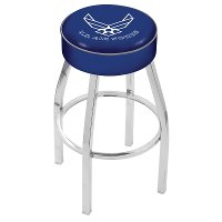 L8C125AirFor Chrome 25 Inch Cushion Counter Stool - US Air Force