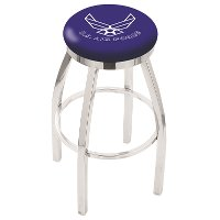L8C2C30AirFor Chrome 30 Inch Bar Stool - US Air Force